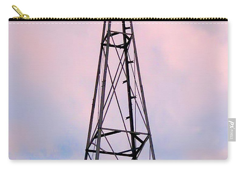 2d Carry-all Pouch featuring the photograph Windpump by Brian Wallace