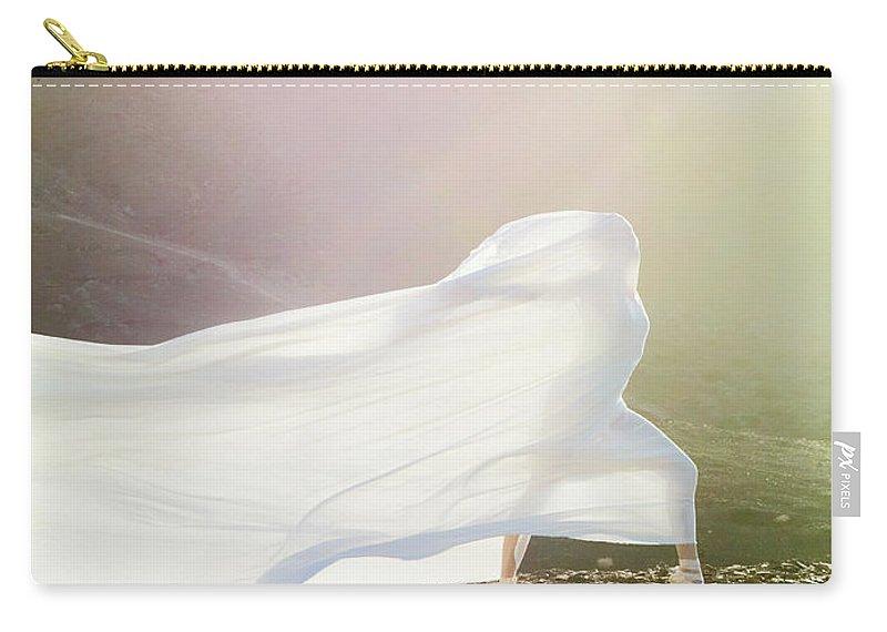 Ballet Dancer Carry-all Pouch featuring the photograph Windy Ballerina by Henrik Sorensen