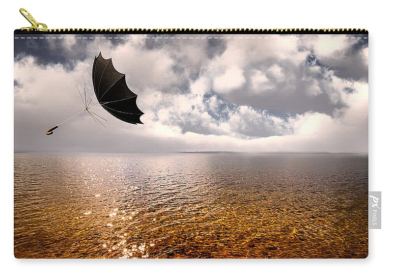 Umbrella Carry-all Pouch featuring the photograph Windy by Bob Orsillo
