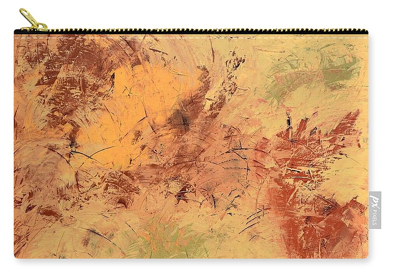 Beige Carry-all Pouch featuring the painting Windy Day by Linda Bailey