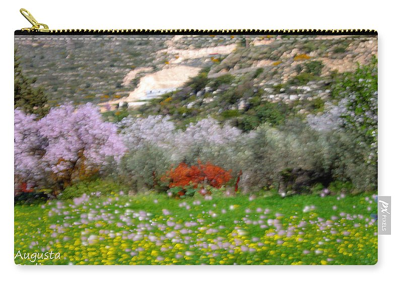 Augusta Stylianou Carry-all Pouch featuring the photograph Windy Spring Day by Augusta Stylianou