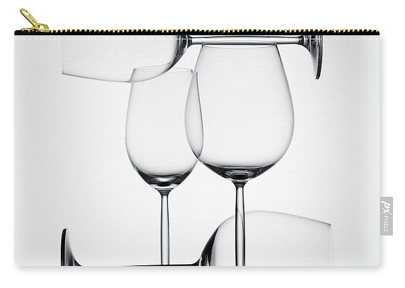 Empty Carry-all Pouch featuring the photograph Wine Glasses by Jorg Greuel