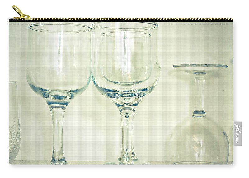 Alcohol Carry-all Pouch featuring the photograph Wine Glasses by Tom Gowanlock