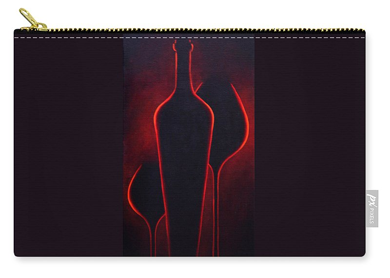 Abstract Carry-all Pouch featuring the painting Wine Glow by Sandi Whetzel