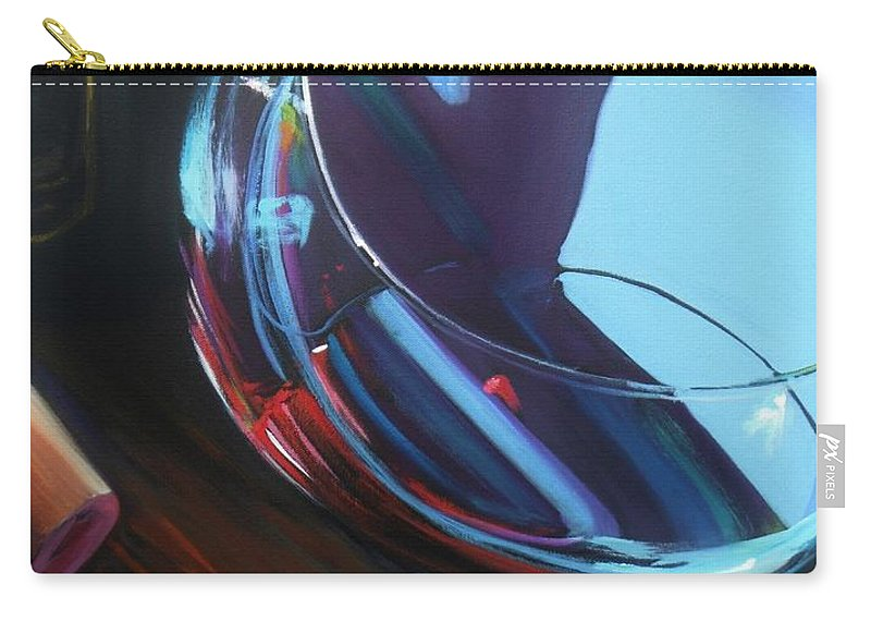 Wine Carry-all Pouch featuring the painting Wine Reflections by Donna Tuten