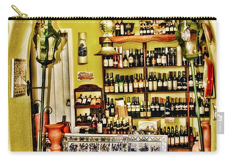 Portugal Carry-all Pouch featuring the photograph Wine Shop by Timothy Hacker