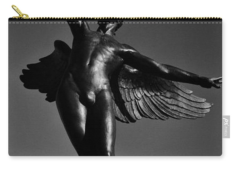 Joshua House Photography Carry-all Pouch featuring the photograph Winged Life Black And White by Joshua House