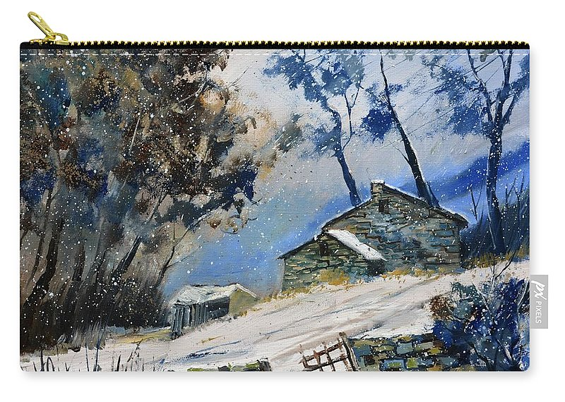 Landscape Carry-all Pouch featuring the painting Winter 655120 by Pol Ledent