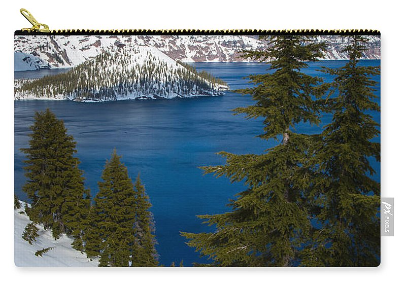 America Carry-all Pouch featuring the photograph Winter At Crater Lake by Inge Johnsson