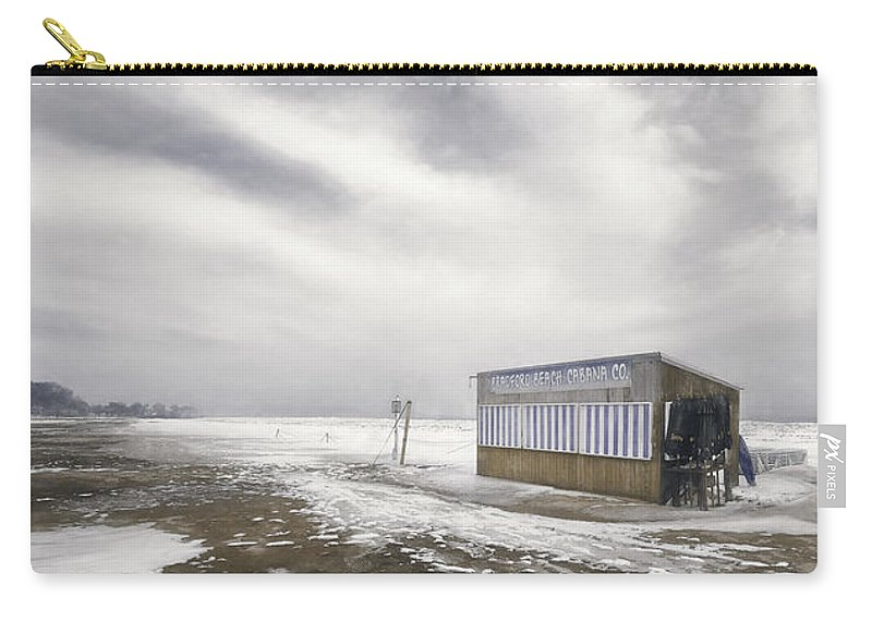 Landscape Photography Carry-all Pouch featuring the photograph Winter At The Cabana by Scott Norris