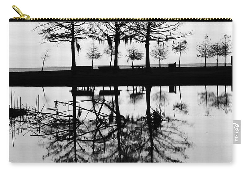 Background Carry-all Pouch featuring the photograph Winter At The Park by Anthony Walker Sr