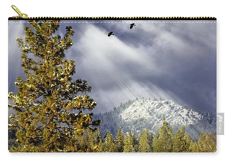 Winter Carry-all Pouch featuring the photograph Winter Blessings by Diane Schuster