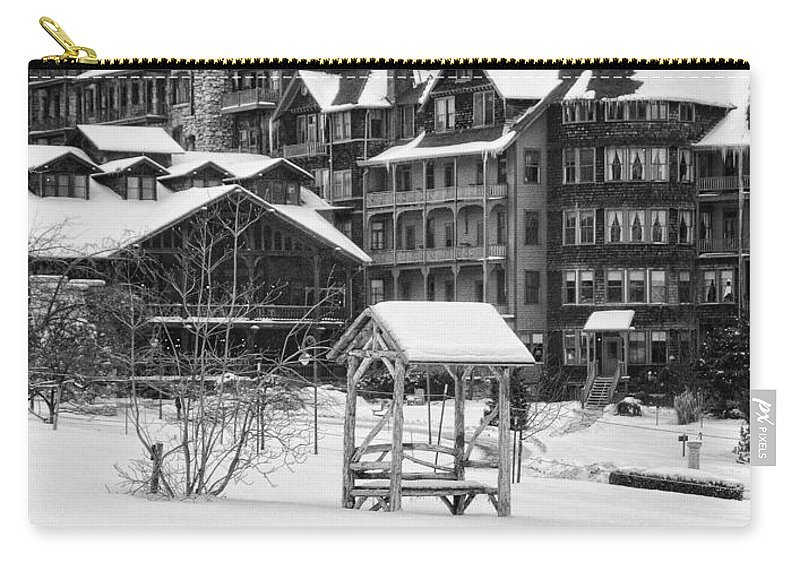 Mohonk Carry-all Pouch featuring the photograph Winter by Claudia Kuhn