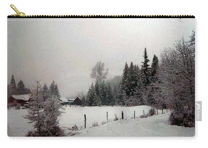Winter Carry-all Pouch featuring the painting Winter Dawn by RC DeWinter