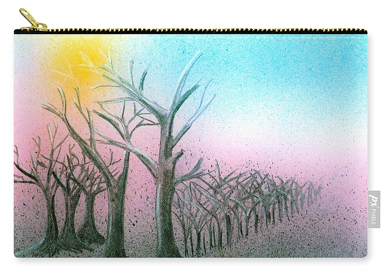Casein Carry-all Pouch featuring the painting Winter Day by Daniele Zambardi