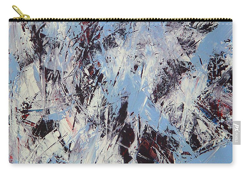 Abstract Carry-all Pouch featuring the painting Winter by Dean Triolo