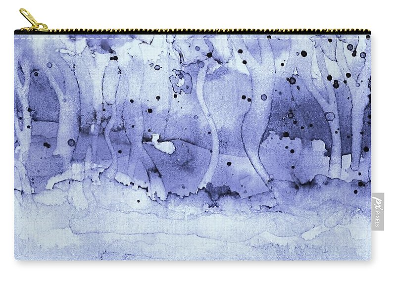 Winter Scene Carry-all Pouch featuring the painting Winter Fantasy by Hazel Holland