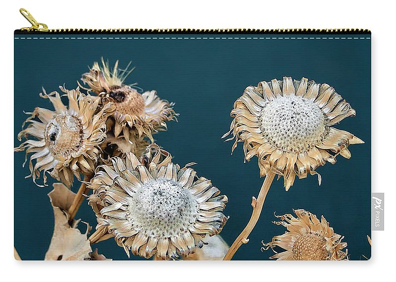 Flowers Carry-all Pouch featuring the photograph Winter Flowers by Alan Hutchins