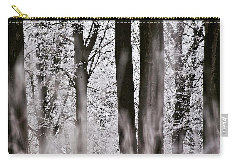 Heiko Carry-all Pouch featuring the photograph Winter Forest 1 by Heiko Koehrer-Wagner