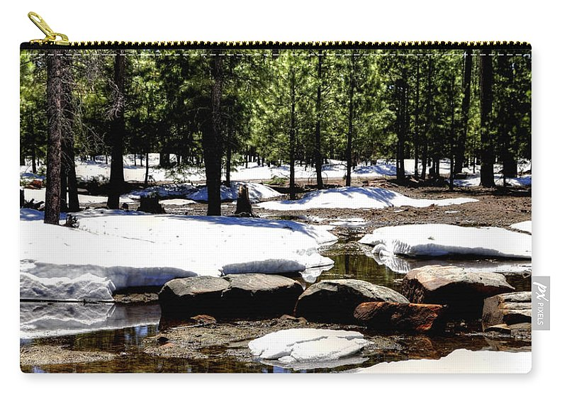 Winter Carry-all Pouch featuring the photograph Winter Gives Way To Spring 32626 by Jerry Sodorff