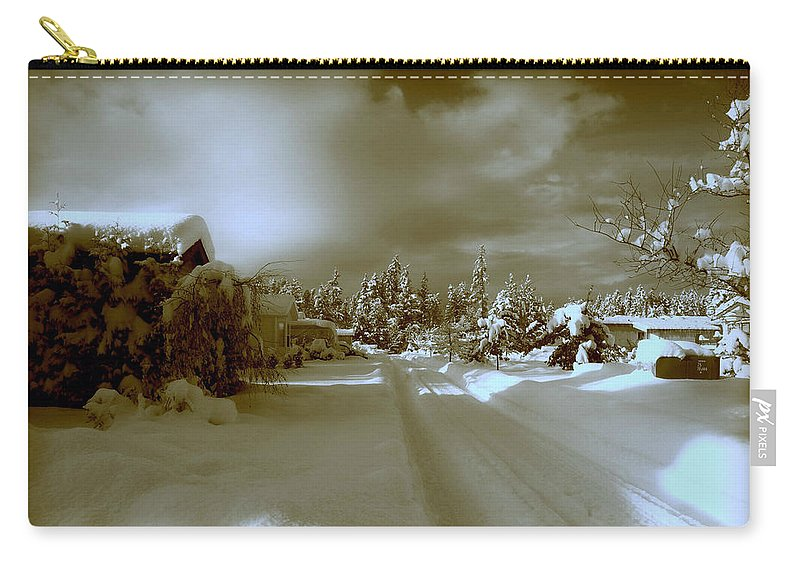 Winter Carry-all Pouch featuring the photograph Winter Lane by Micki Findlay
