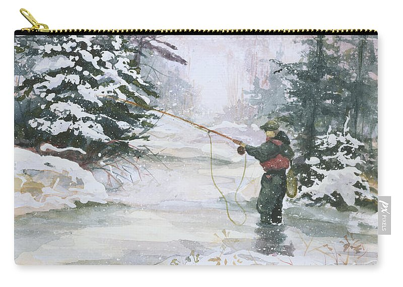 Magic Carry-all Pouch featuring the painting Winter Magic by Elisabeta Hermann