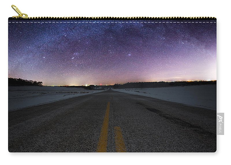 Winter Carry-all Pouch featuring the photograph Winter Milky Way by Aaron J Groen