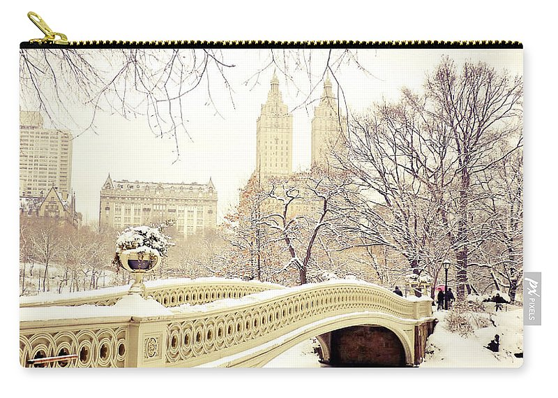 Nyc Carry-all Pouch featuring the photograph Winter - New York City - Central Park by Vivienne Gucwa