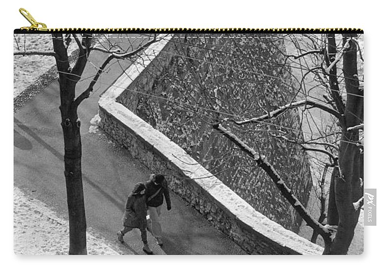Winter Carry-all Pouch featuring the photograph Winter On The Walls Of Bergamo by Riccardo Mottola