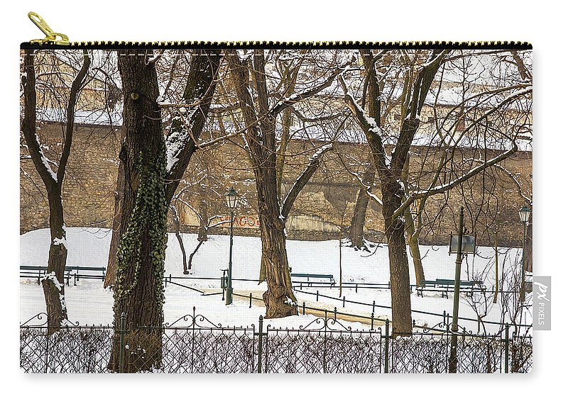 Background Carry-all Pouch featuring the photograph Winter Park by Pati Photography