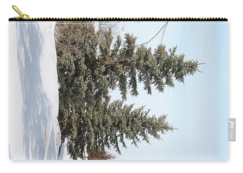 Pines Carry-all Pouch featuring the photograph Winter Pines by Wayne Williams