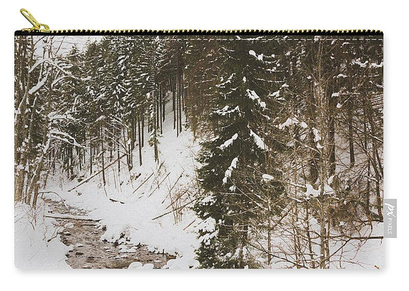 Winter Carry-all Pouch featuring the photograph Winter River by Pati Photography