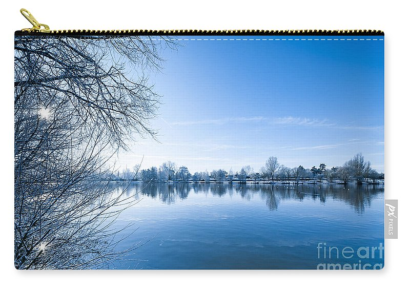 Birds Carry-all Pouch featuring the photograph Winter River by Svetlana Sewell