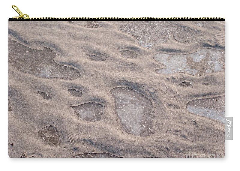 Winter Carry-all Pouch featuring the photograph Winter Sand Art by Ann Horn