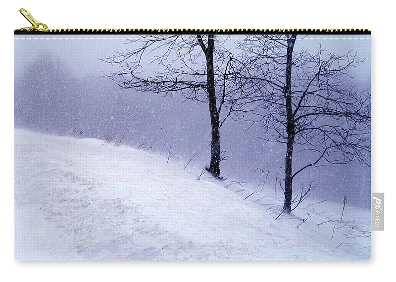 Winter Carry-all Pouch featuring the photograph Winter Slope by Lexi Heft