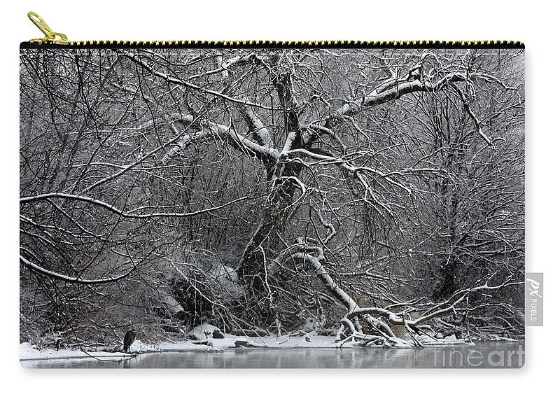 Winter Carry-all Pouch featuring the photograph Winter Solitude by Carol Groenen