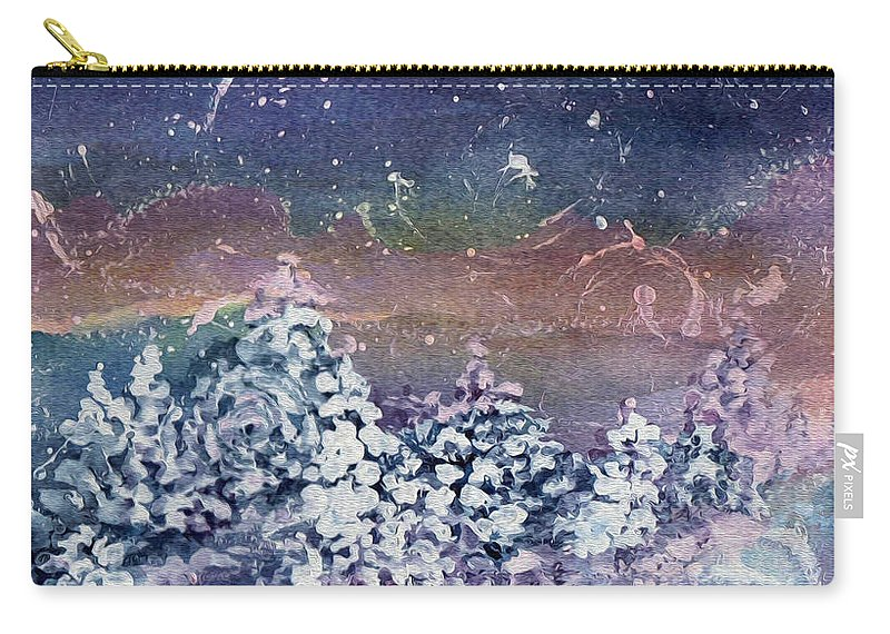 Winter Carry-all Pouch featuring the painting Winter Solstice by Kathy Bassett