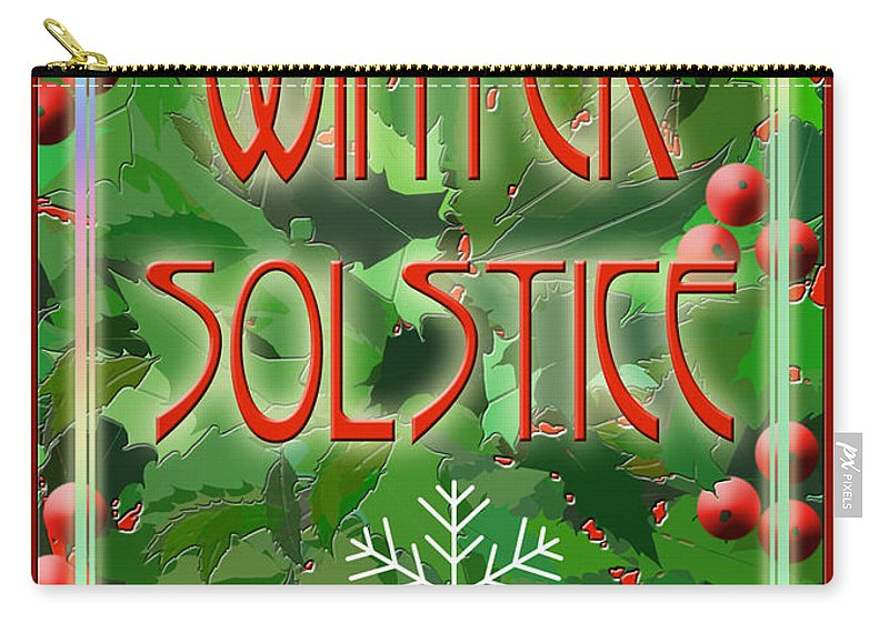 Yule Carry-all Pouch featuring the digital art Winter Solstice by Melissa A Benson