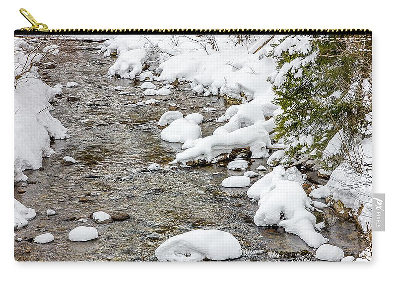 River Carry-all Pouch featuring the photograph Winter Stream by Pati Photography