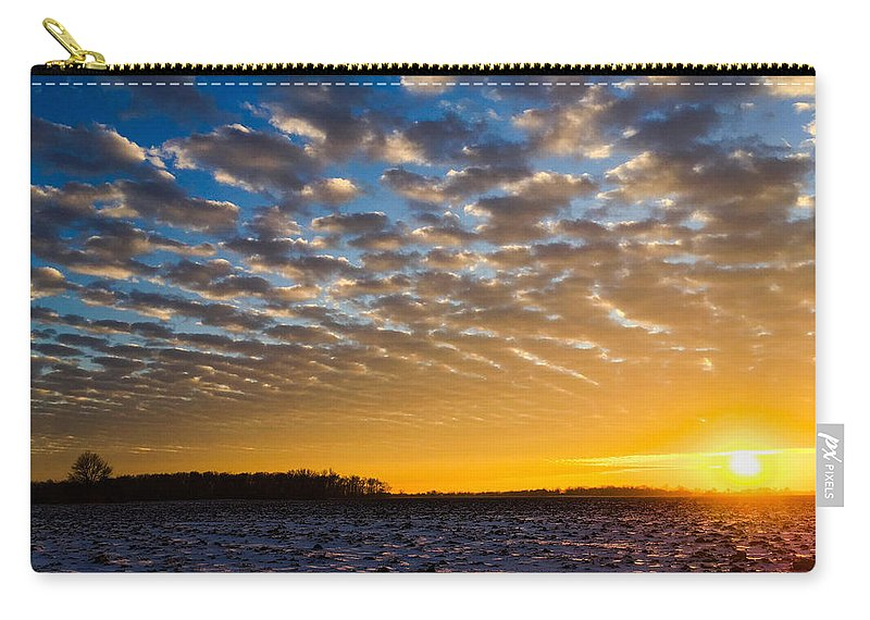 Sunset Carry-all Pouch featuring the photograph Winter Sunset 1 by Dan McCafferty