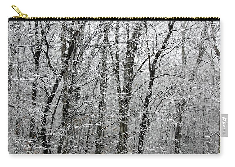 Tree Carry-all Pouch featuring the photograph Winter Trees by Guy Shultz