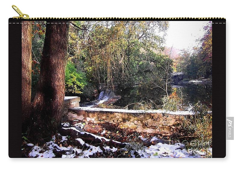 Nature Carry-all Pouch featuring the photograph Winter Woods With Melting Snow by Miriam Danar