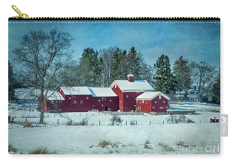 Barns Carry-all Pouch featuring the photograph Winter's Colors by Claudia Kuhn
