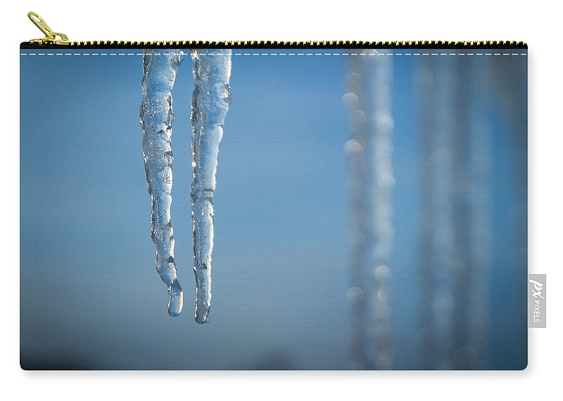 Bill Pevlor Carry-all Pouch featuring the photograph Winter's Fangs by Bill Pevlor