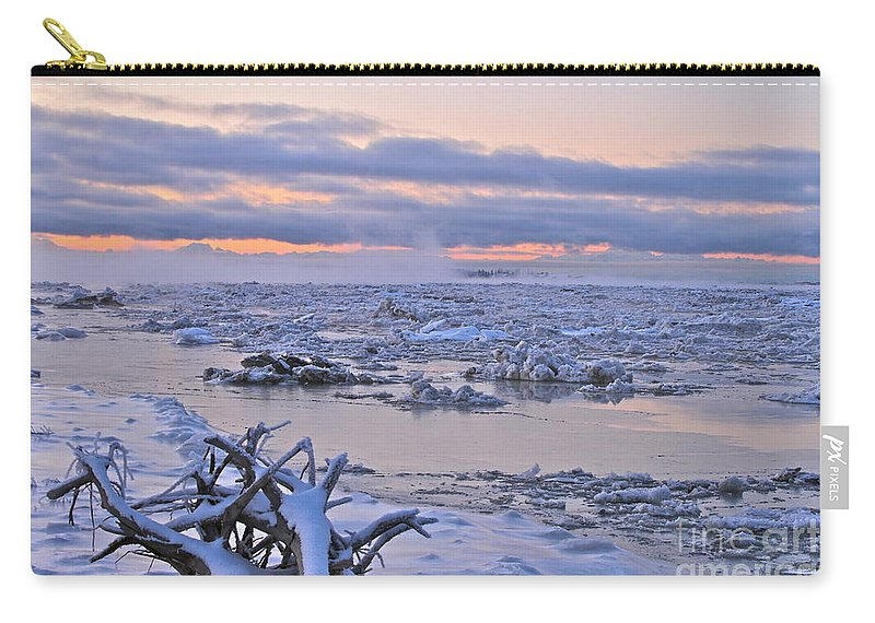 River Carry-all Pouch featuring the photograph Winters River by Rick Monyahan