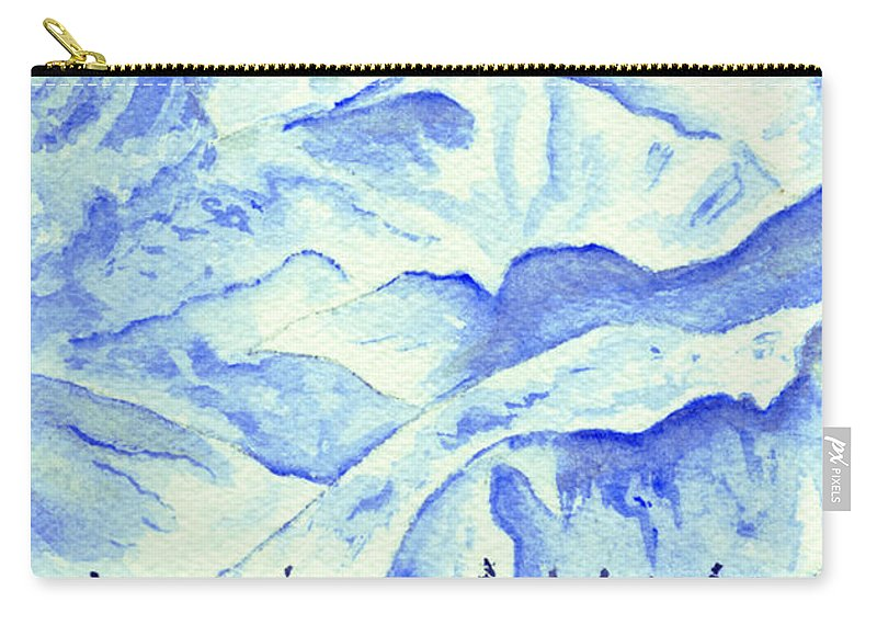 Landscape Carry-all Pouch featuring the painting Winter's White Blanket by Brenda Owen