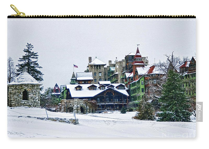 Mohonk Carry-all Pouch featuring the photograph Wintertime by Claudia Kuhn