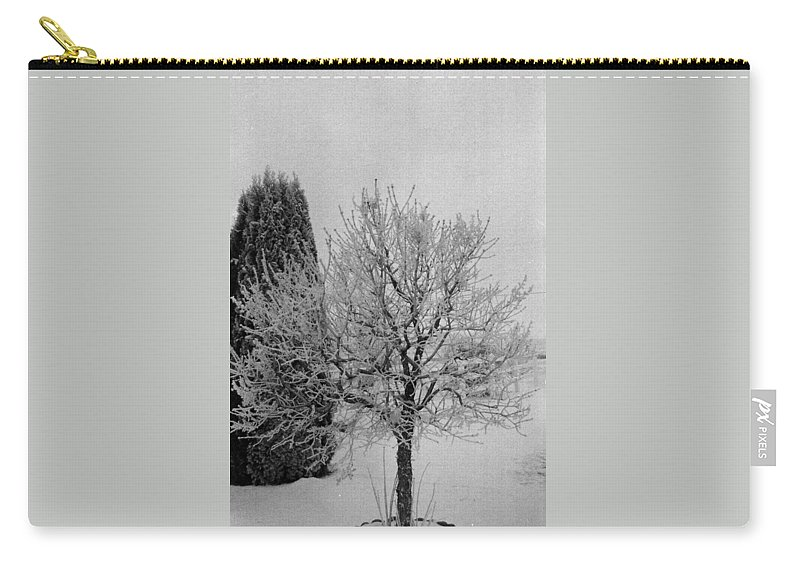 Winter Carry-all Pouch featuring the photograph Wintery Tree by Mike Wheeler