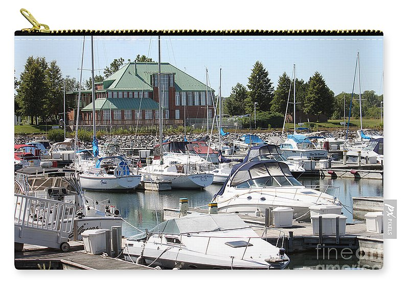 Boats Carry-all Pouch featuring the photograph Winthrop Harbor by Debbie Hart