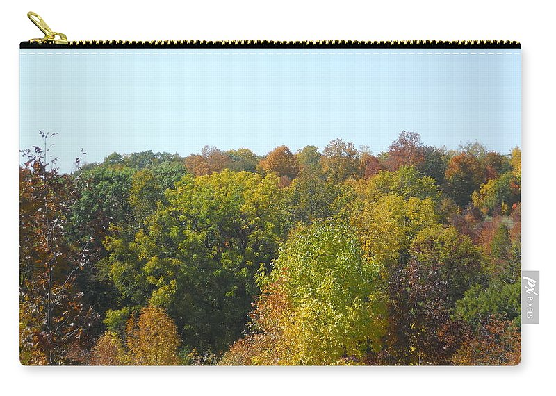 Trees Carry-all Pouch featuring the photograph Wisconsin Colors by Coleen Harty